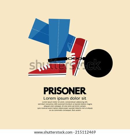 Prisoner's Iron Ball Vector Illustration - stock vector