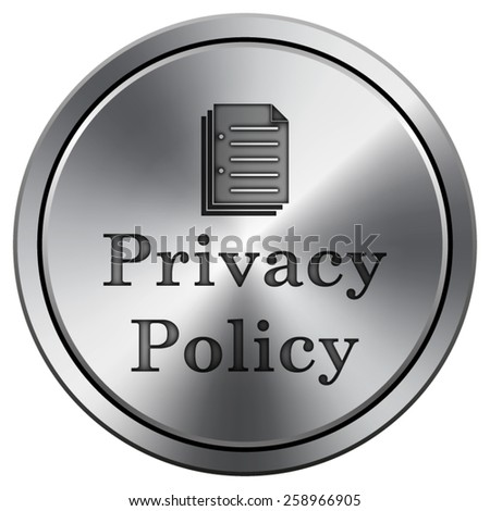 Privacy policy icon. Internet button on white background. EPS10 Vector.  - stock vector