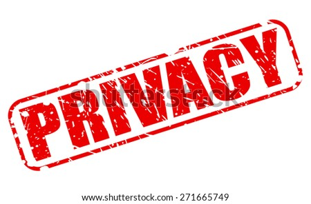 Privacy red stamp text on white - stock vector