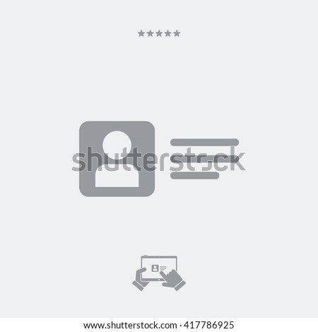 Private account box icon - stock vector