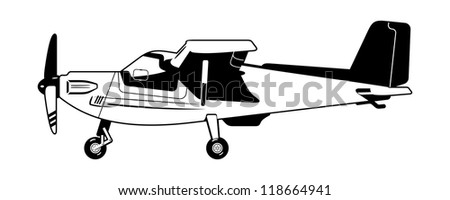 private aircraft - stock vector