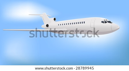 Private Commercial Jet Vector Illustration - stock vector