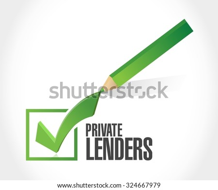 private lenders approval sign concept illustration design graphic - stock vector