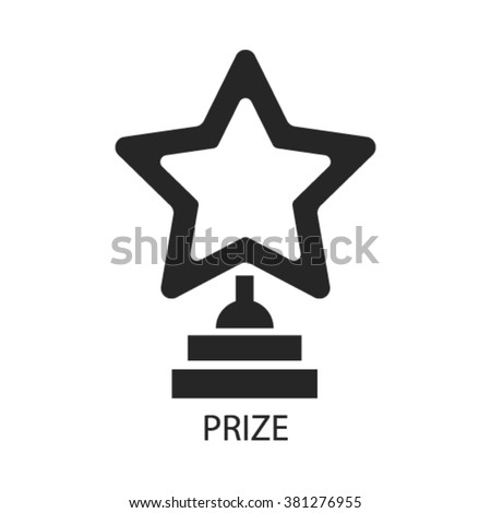 prize icon, prize logo, prize icon vector, prize illustration, prize symbol, prize isolated, prize image, prize drawing, prize concept  - stock vector