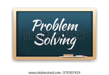 Problem Solving Chalkboard - stock vector