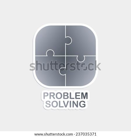problem solving logo theme - stock vector