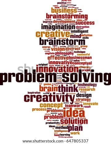 Problem Solving Word Cloud Concept Vector Stock Vector ...