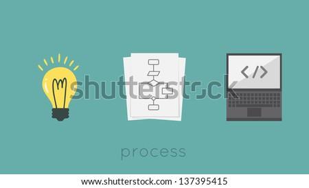 Process - stock vector