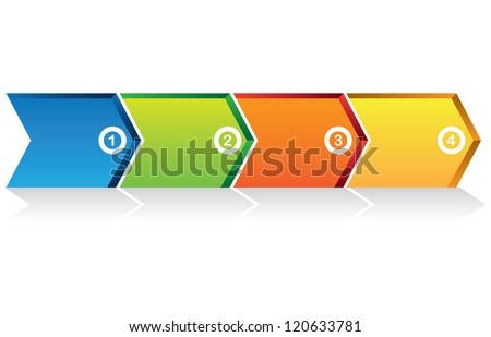 process arrow diagram - stock vector