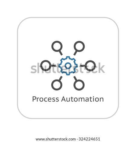 Process Automation Icon. Business Concept. Flat Design.Isolated Illustration. - stock vector