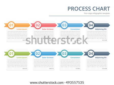 Circle Flow Diagram Template Six Elements Stock Vector 345156722