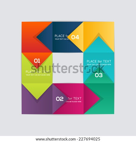 Process chart module. Vector illustration. - stock vector