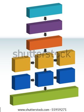 Process Map - stock vector