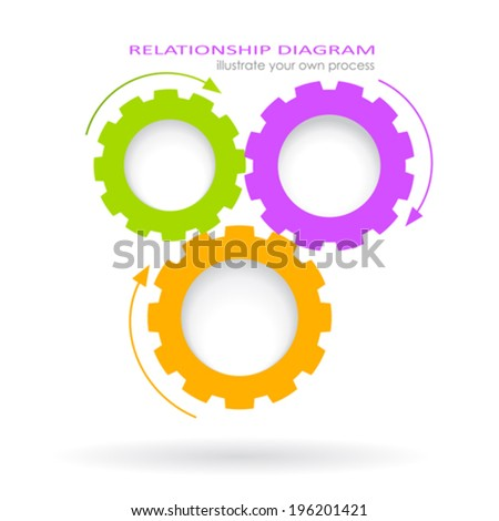 Process Relationship Diagram Stock Vector   Shutterstock