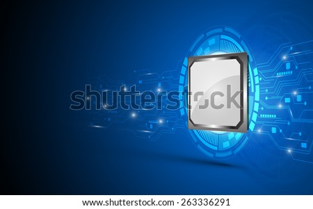processor and circuit electric working digital concept abstract background - stock vector