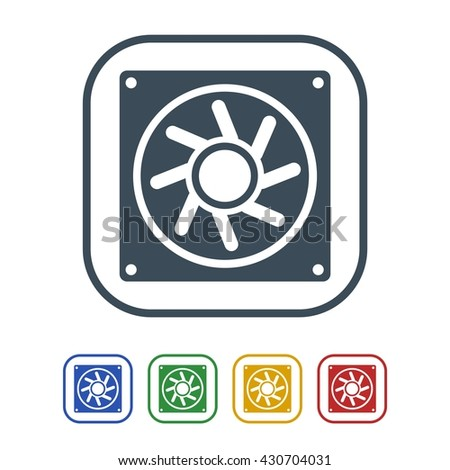 Processor fan Icon Isolated on White Background.vector illustration icon - stock vector
