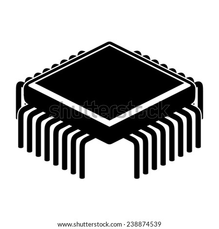 Processor unit. Vector. - stock vector