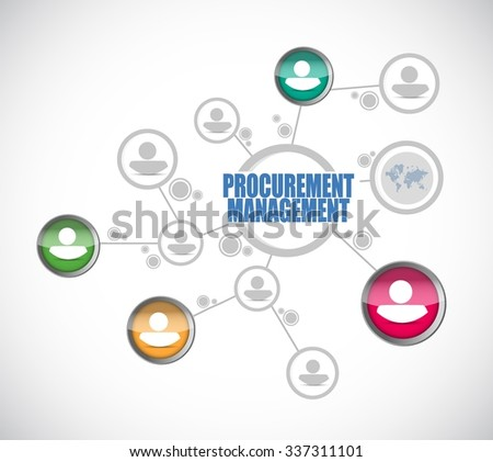 Procurement Management diagram connection sign concept illustration design graphic icon - stock vector