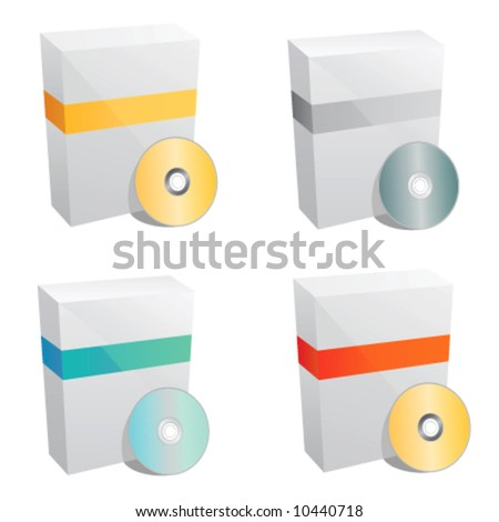 product box template vector - stock vector