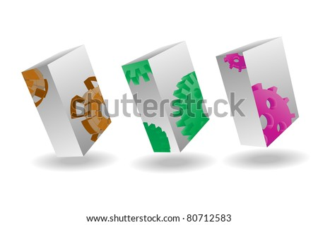 Product Box Vector - stock vector
