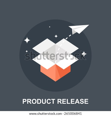 Product Release - stock vector