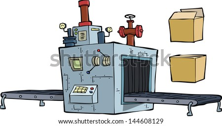Production equipment on a white background vector illustration - stock vector