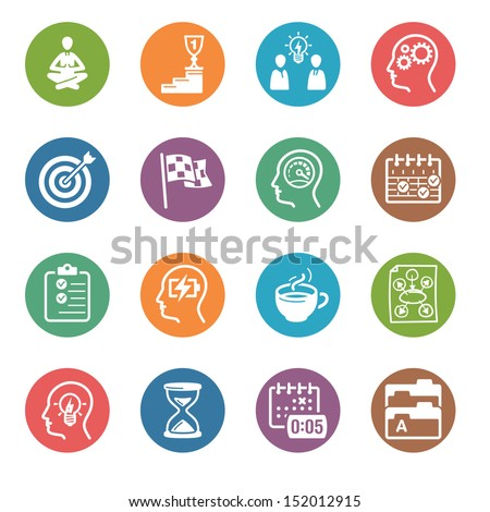 Productive at Work Icons - Dot Series  - stock vector
