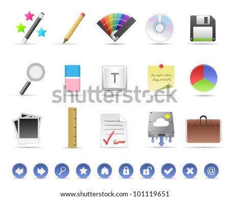 Productivity Icons - stock vector