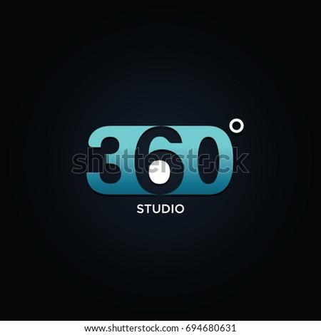 Profesional 360 Degree Symbol Logo Stock Vector 694680631 Shutterstock