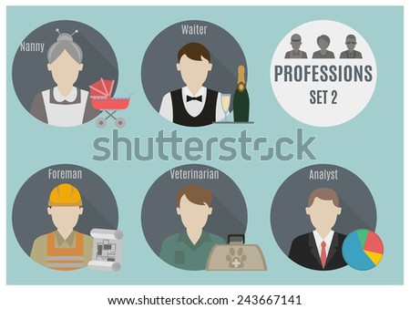 Profession people  - stock vector