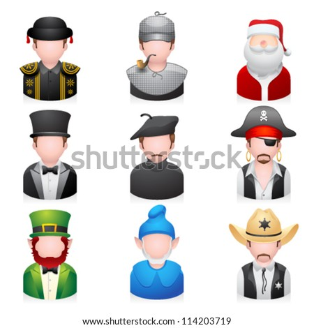 Profession people icons - stock vector