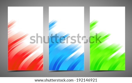 Professional and designer cards. Variety of uses, collection vector of modern color business templates card with stripes - stock vector