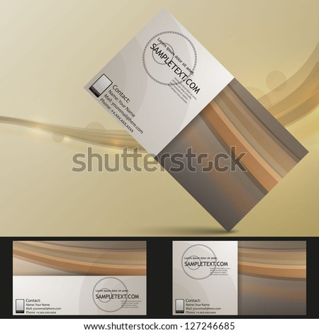 Professional business card set, template or visiting card. - stock vector
