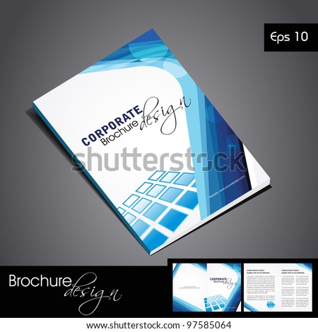 Professional business catalog template corporate brochure stock professional business catalog template or corporate brochure design for document publishing print and presentation accmission Gallery