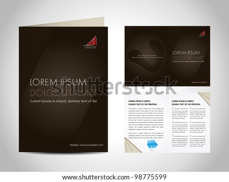 Professional business catalog template or corporate 3 fold brochure design for document, publishing, print and presentation. Vector illustration in EPS 10. - stock vector