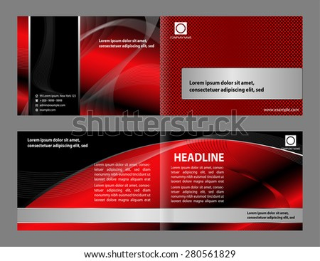 Professional business corporate brochure or cover design  - stock vector
