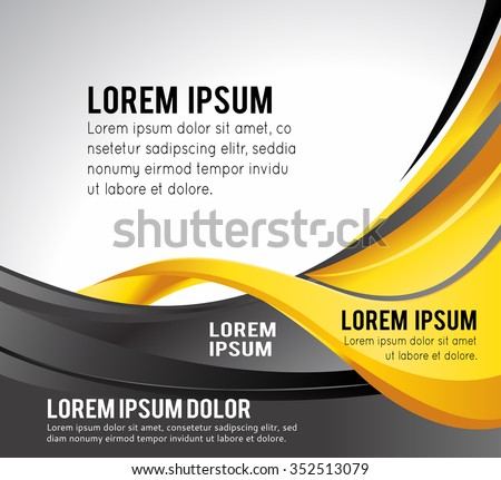 Professional business design layout template or corporate banner design. Magazine cover, publishing and print presentation. Abstract vector background. - stock vector