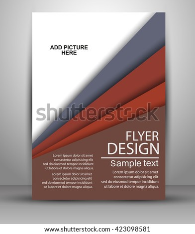 Professional business design layout template or corporate banner design. Magazine cover, publishing and print presentation. Abstract vector background. Vector eps10. Flyer template  - stock vector