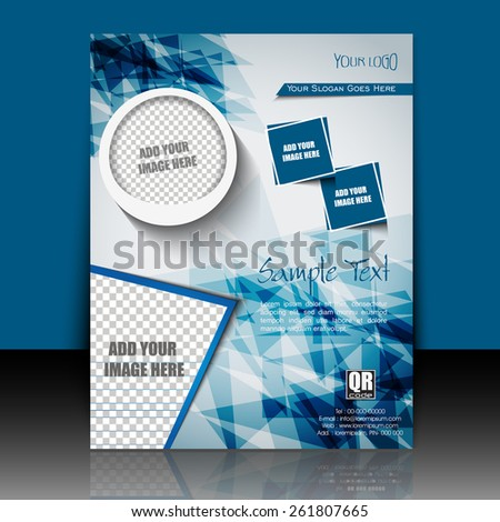 Professional business flyer, brochure, magazine cover, poster & corporate banner design, EPS 10. - stock vector