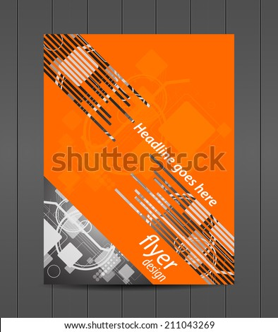 Professional business flyer template or corporate banner, can be use for print, presentation or publishing/desig with place for your content - stock vector