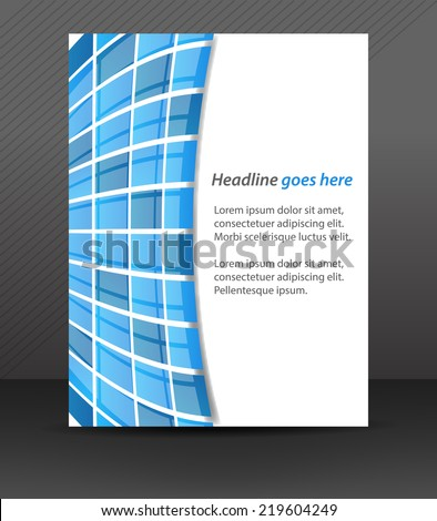 Professional business flyer template or corporate banner, cover design/can be used for print, publishing or working presentation, design with place for your content/vector illustration - stock vector