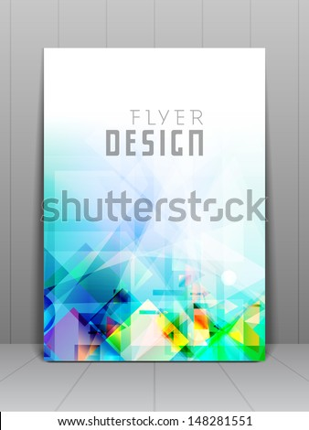Professional business flyer template or corporate banner design, can be use for publishing, print and presentation. EPS 10.  - stock vector