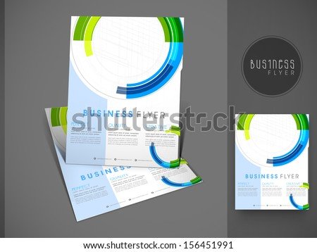 Professional business flyer template or corporate banner design, can be use for publishing, print and presentation.  - stock vector