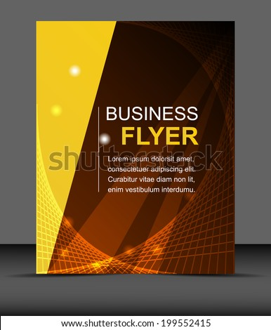 Professional business flyer template or corporate banner/design for print, publishing or presentation