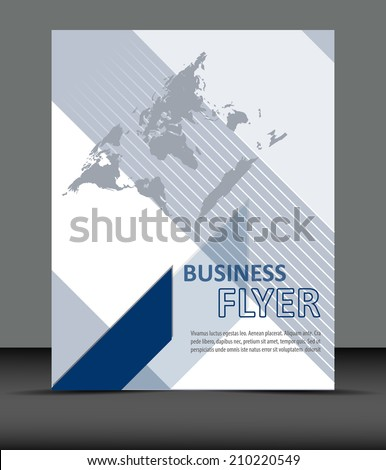 Professional business flyer template or corporate banner/design for print, publishing or presentation  - stock vector