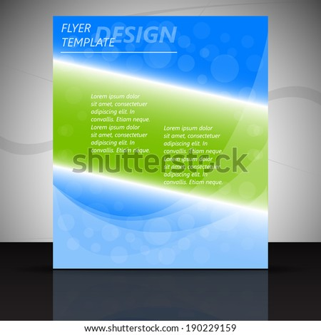 Professional business flyer template or corporate banner/ design with place for your content, print, publishing or working presentation