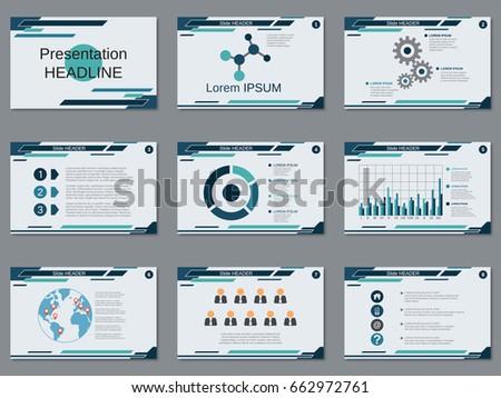 professional business presentation slide show vector stock vector