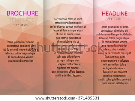 Professional business three fold flyer template, corporate brochure or cover design Brochure design template vector tri-fold.vector illustration. - stock vector