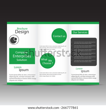 Professional Business Three Fold Flyer Template Vector – Three Fold Flyer Template
