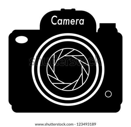 Professional Camera icon, vector illustration - stock vector